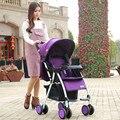 Super portátil carrinho guarda-chuva carro suspensão pode sentar-se pode mentir dobrar alta paisagem inverno verão bebê carrinho de bebê