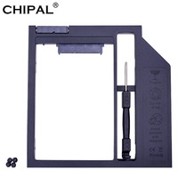 CHIPAL High Quality Plastic SATA 3.0 2nd HDD Caddy 9mm 9.5mm for 2.5