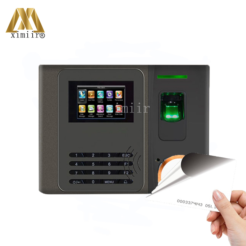 XM200 Fingerprint Time Attendance With RFID Card Reader And Back Up Battery Good Quality TCP/IP Time Attendance Time Clock