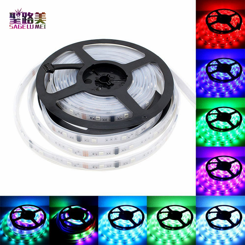 5M/lot 5050 SMD Dream Color Flash RGB 6803 IC 133 Change LED Strip Light Waterproof 30led/m 6803 full color led tape