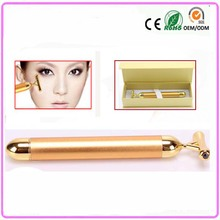 Energy vibration 24K gold facial beauty bar massager stick face lifting slimming anti-aging beauty skin instrument Free shipping