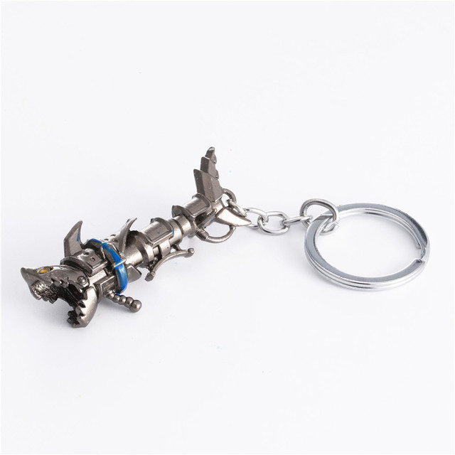 League of legendes LOL Jinx Darts Weapon keychain High quality Shells Jinx cannon LOL Keychain Metal Key Rings Cosplay Gift