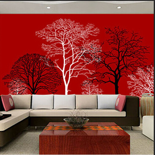 Modern Abstract Wallpapers For Living Room Green Non Woven Backdrop Art Wall Paper Furniture