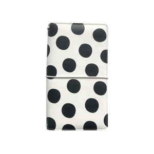 Image 3 - Lovedoki Black & White Dot Leather Cover Traveler Notebook Fashion Journals Planner Office And School Supplies Stationery