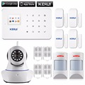 99 wireless zones home gsm alarm system with Anti-pet PIR motion sensor wifi IP camera alarm system