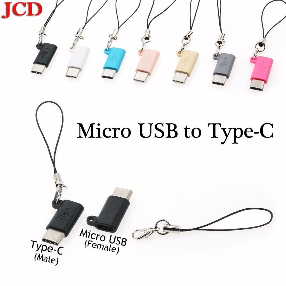 JCD For <font><b>Xiaomi</b></font> 5 6 8 Type-c Otg <font><b>Adapter</b></font> Micro Usb To Type C Charger Connectors for Huawei p20 pro p10 Typec To Usb-c <font><b>Usbc</b></font> Cable image
