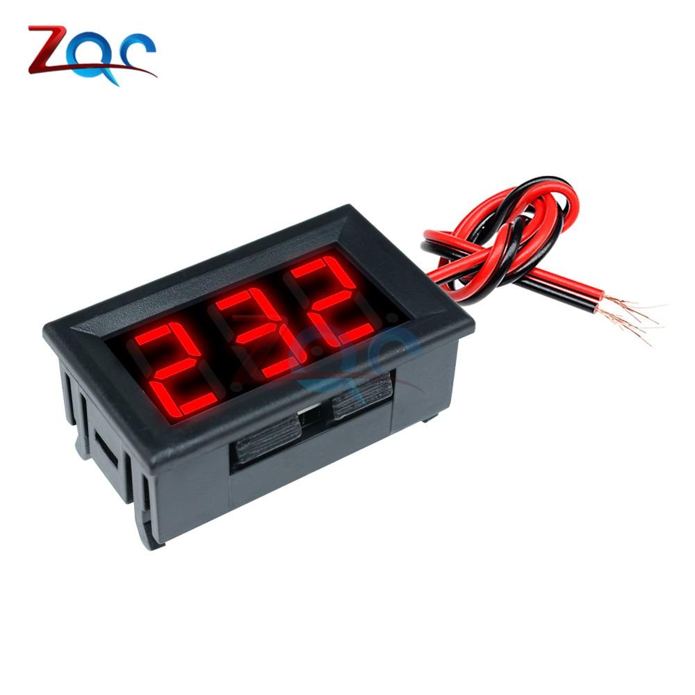 "HTB1dYtXXk9E3KVjSZFrq6y0UVXa6 Mini Digital Voltmeter Ammeter DC 100V 10A Panel Amp Volt Voltage Current Meter Tester Detector 0.56"" Dual LED Display Auto Car"