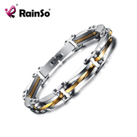 Model Men S Titanium Steel Hollow Bracelet Undulation Hand Chain Gold Plated Bracelets Bangles For Men