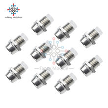 10PCS 5MM Chrome Silver Metal Bezel LED Holder Mount Panel Display Base Rubber(China)