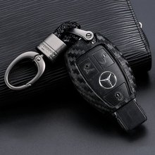Car Key Case Cover Carbon Fiber For Mercedes Benz BGA AMG W203 W210 W211 W124 W202 W204 W205 W212 W176 Car key Shell Protecor все цены