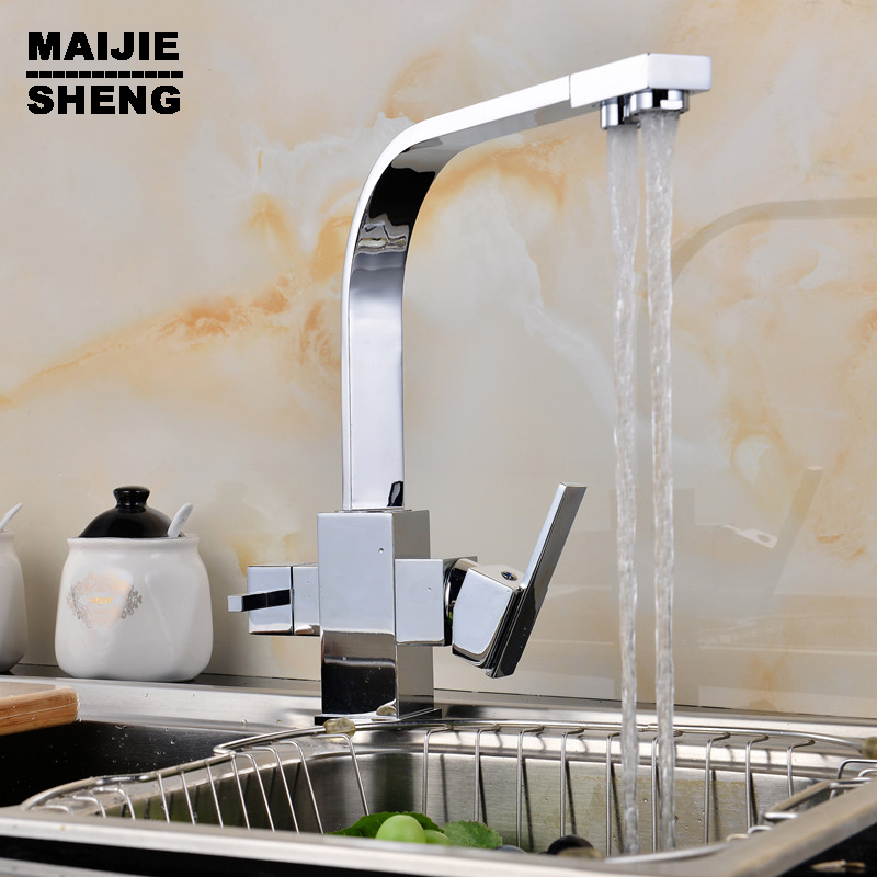 mixer tap 3 way kitchen faucet sink mixer water kitchen dinking faucet Double function chrome kitchen faucet three way sink 2015 double function kitchen faucet 3 way kitchen faucet sink mixer water kitchen dinking faucet three way sink mixer tap