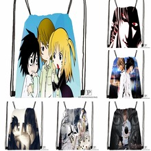 Custom Death Note Anime #8  Drawstring Backpack Bag for Man Woman Cute Daypack Kids Satchel (Black Back) 31x40cm#180531-01-40