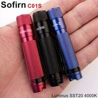 Sofirn C01S BLF Мини светодиодный фонарик AAA Twisty High 95 CRI SST20 4000 K светодиодный фонарик для ключей шляпа свет с зажимом