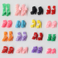 10Pair/Lot Fashion Doll Accessories Shoes Heels Sandals For 11inch Dolls Girl Gift