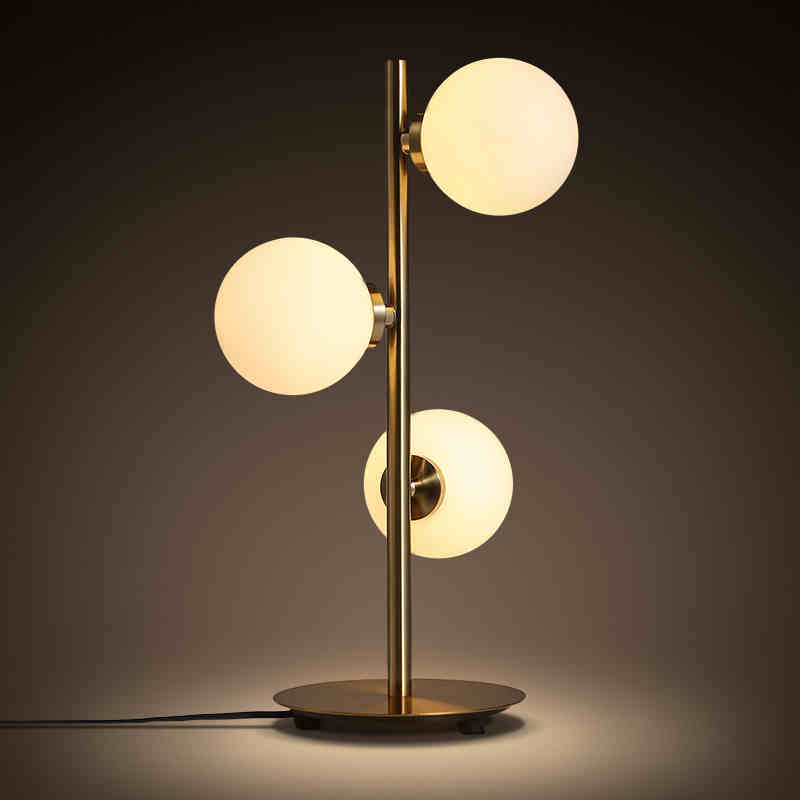 European fashion modern minimalist American personality study three bedroom living room lamp glass ball head warm lamp