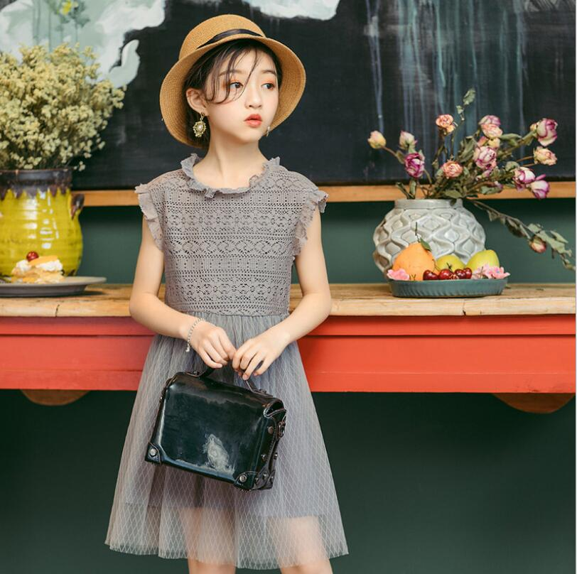 Soft And Elegant Gray And Pink Nursery: 2019 Summer Children Girls Fairy Lace Soft Dresses