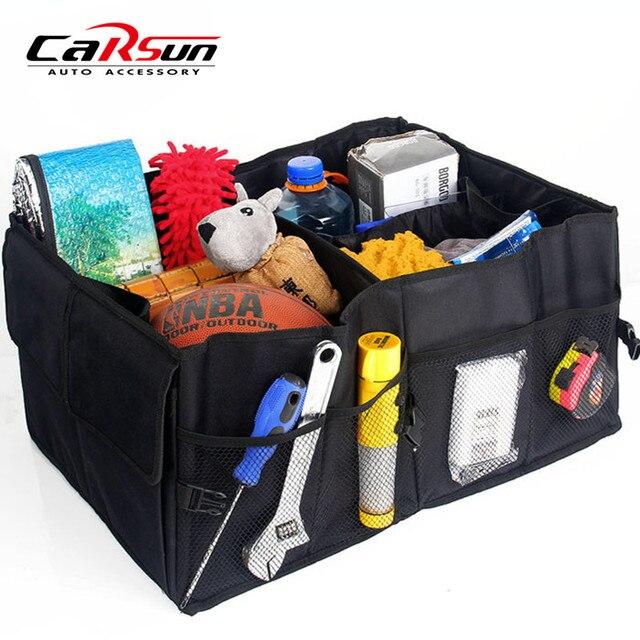 600D Oxford Car Boot Tidy Bag Organizer Auto Car Trunk Organizer Collapsible  Storage Bag JH