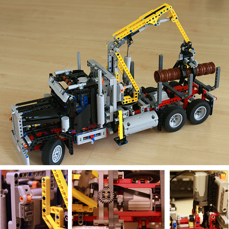 Lepin 20059 1338Pcs Technic Mechanical Series The Logging Truck Set 9397 Children Educational Building Blocks Bricks Toys Model транспортер т2 т3 г хмельницкий купить