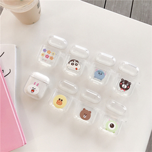 For Airpods Case Cute Transparent Earphone Airpod Cover Portector Charging Box Cartoon Hard anime Bag Etui