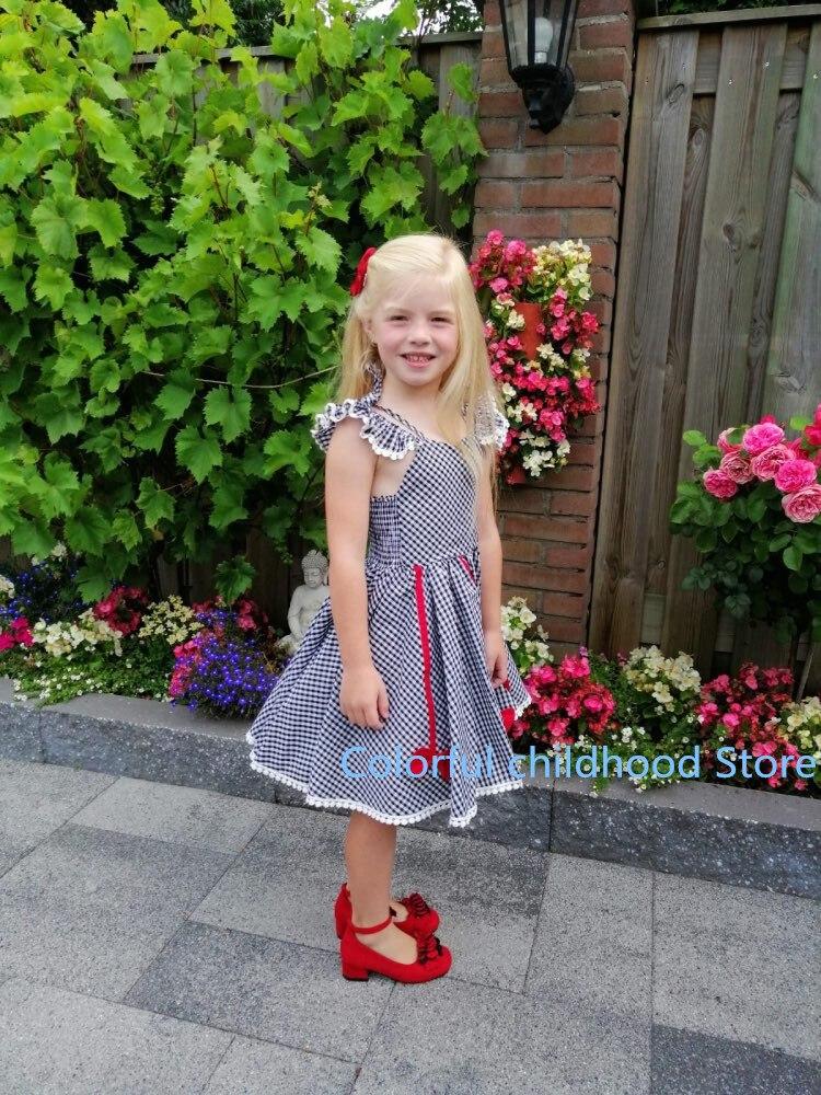 Rosa vermelho preto das crianças meninas sapatos