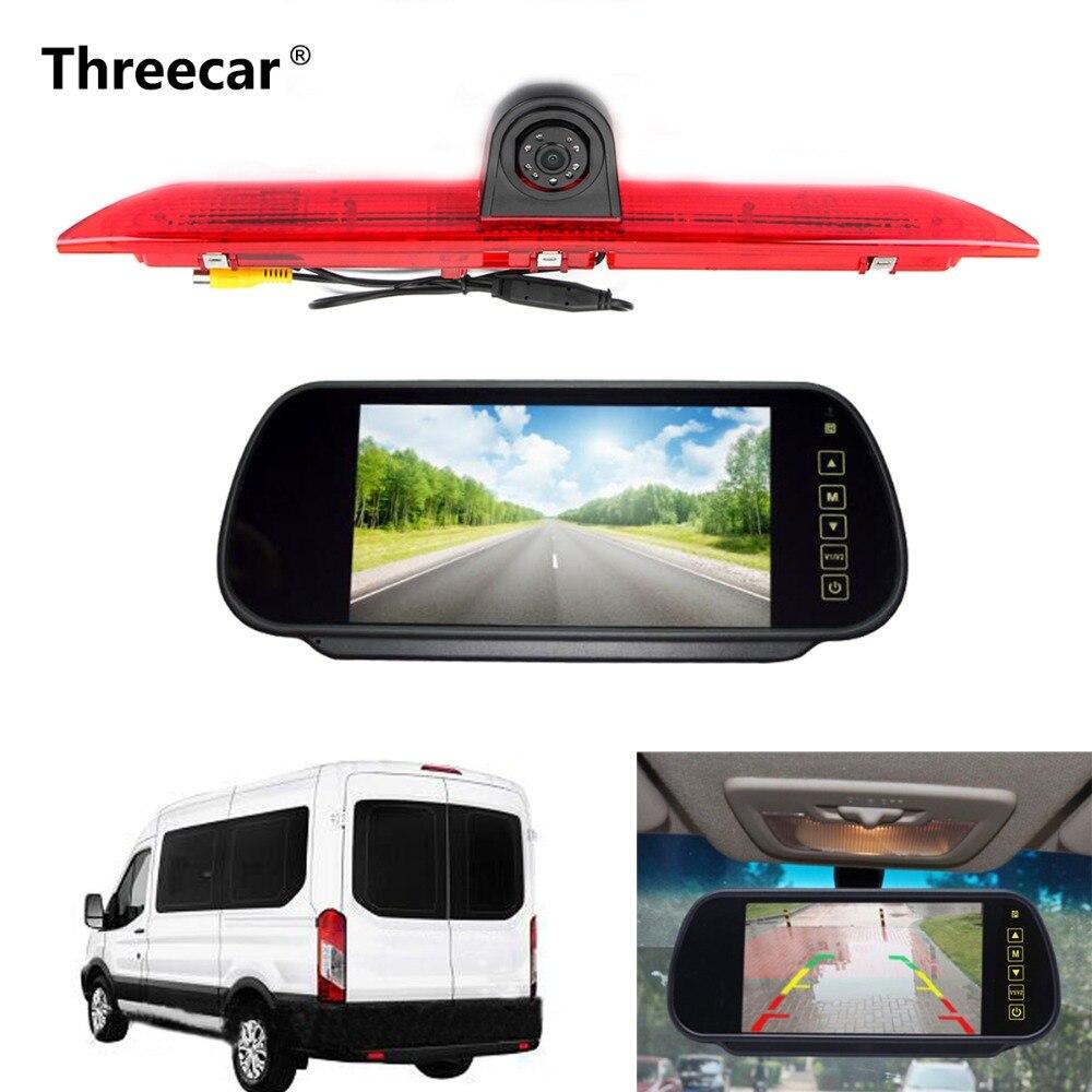 LED Brake Light IR LED Brake Light Rear View Reversing Parking Camera with 7 Inch Monitor