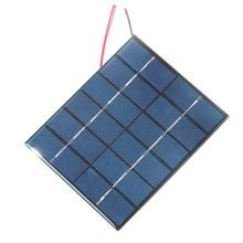 Дешевле 2 Вт 6 в эпоксидный солнечный элемент поликристаллическая солнечная панель модуль с кабелем система DIY Солнечное зарядное устройство для батареи 3,7 в 1