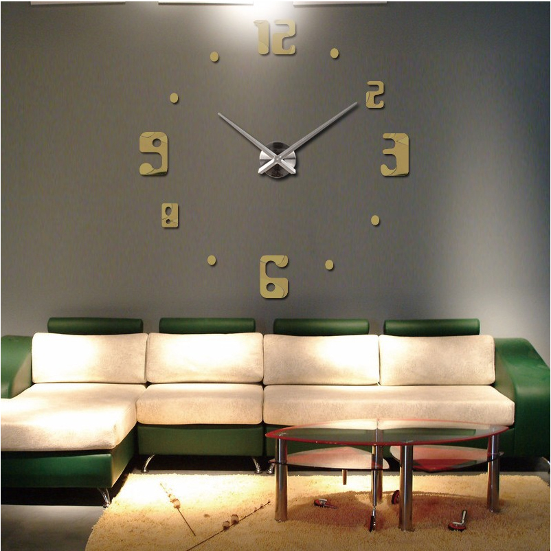 Buy 2016 New Big Wall Clock Living Room Quartz Metal Modern