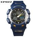 Clock Male Sport Watch Swimming Diving Men's waterproof 100m watches Blue Color Fashion Rubber Belt Japan Movement Epozz 3001