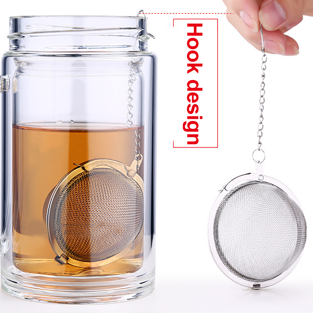 Tea Ball Infuser Loose Leaf Herb Spice Strainers Filter Stainless Steel Steeper