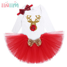 3Pcs NewBorn Clothes Baby Rompers Kids Infantil Baby Girls Christmas Costumes