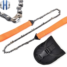 Outdoor Camping Tool Portable Saw Survival Tool Folding Manganese Steel Hand Chain Saw Chain Wire Saw apg 65cm outdoor survival pocket chainsaw and camping gardening hand chain saw