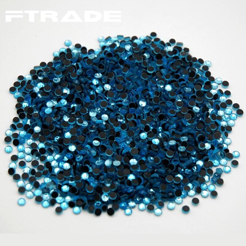 SS6 SS30 1440pcs Aquamarine Color Hot Fix Rhinestone Flatback DMC Hotfix  Transfer Iron on Glass Beads for Wedding-in Rhinestones from Home   Garden  on ... 5f323b0947cc