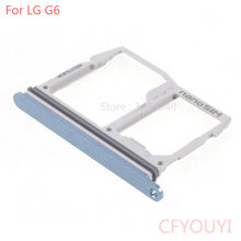 CFYOUYI SIM Card Tray Slot Houder + Micro SD Memory Sim Houder Adapter Voor LG G6 US997 VS988(China)