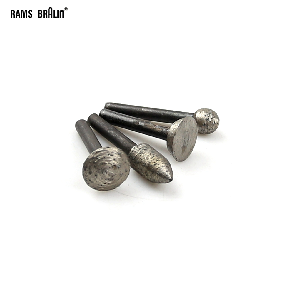 4 Pieces OD12*6mm Diamond Sintered Mounted Grinding Point Stone Engraving Carving Grinding Head