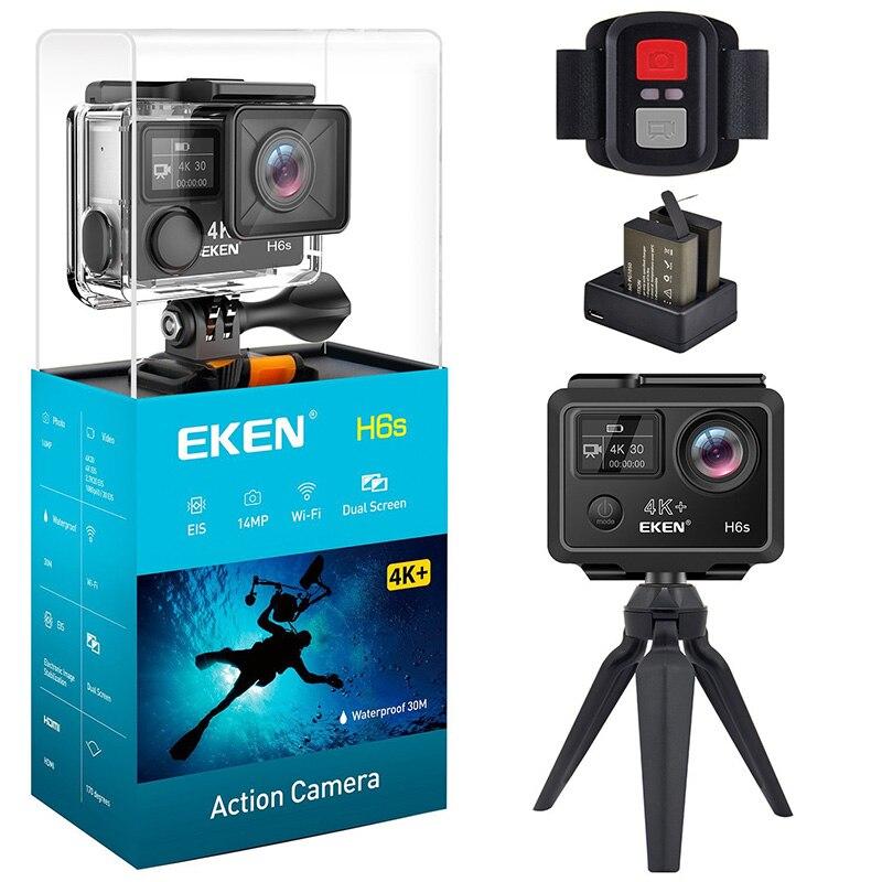 EKEN H6s Action Camera 14MP 4 K 30fps De Vídeo WI-FI Ultra HD com A12 Chip 30 M À Prova D' Água Ir Mini cam Viajar Pro Câmera Esporte
