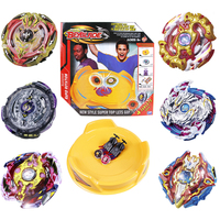 6pcs Set And Gyro Disk Launcher Metal Beyblade Burst Toys Arena Combat Gyroscope Classic Spinning Hobbies