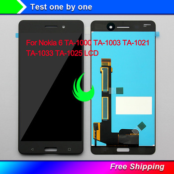5.5Original For Nokia 6 LCD TA-1000 TA-1003 TA-1021 TA-1033 TA-1025 Display Touch Screen Digitizer Assembly NOKIA