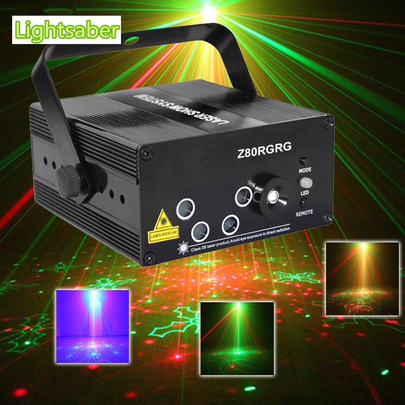 LED Laser Stage Lighting 5 Lens 80 Patterns RG Mini Led Laser Projector 3W Blue Light Effect Show For DJ Disco Party Lights led laser stage lighting 24 or 96 patterns rg mini red green laser projector 3w blue light effect show for dj disco party lights