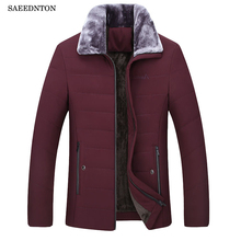 Мужская зимняя куртка-пуховик 2018, новый бренд, для среднего возраста, для отца, 90% белый утиный пух, утолщенные теплые мужские деловые повседневные пальто Cltohing