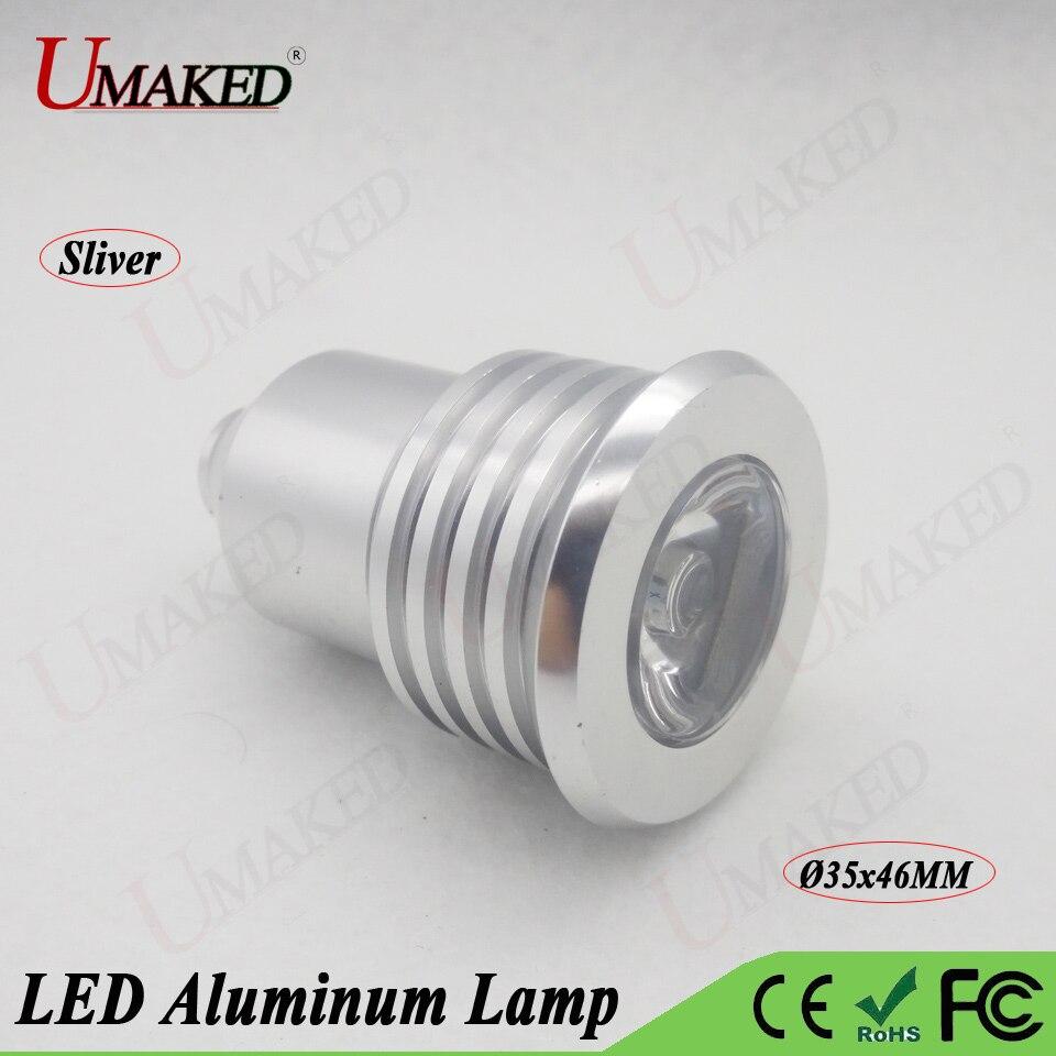 5pc 1W 3W 5W LED Alumimun Lamp Head Spotllight Base Case Kits Lighting lamp Mounts+heat sink PCB Plate+led Lens free shipping