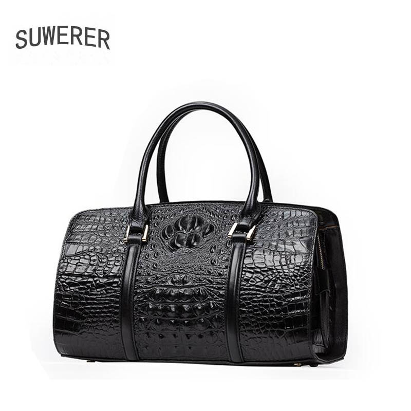 2019 New  women Genuine Leather bags top cowhide luxury handbags Crocodile pattern Embossing bag designer women handbags2019 New  women Genuine Leather bags top cowhide luxury handbags Crocodile pattern Embossing bag designer women handbags