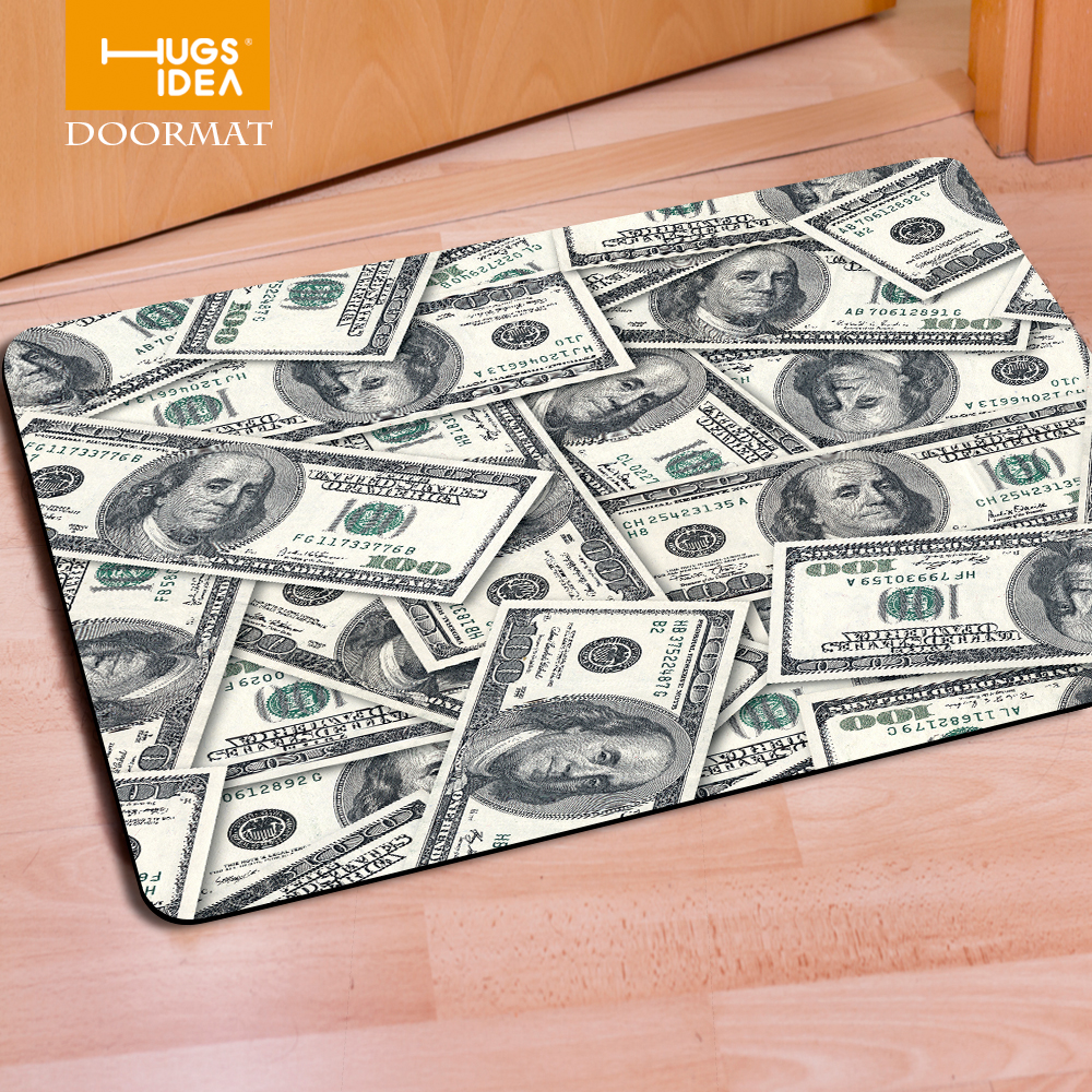 Funny bathroom rugs - New Arrival Art Dollars Carpet Floor Mat For Living Room Bedroom Fashion Bathroom Rug Tapetes Anti Slip Bath Mat Coins