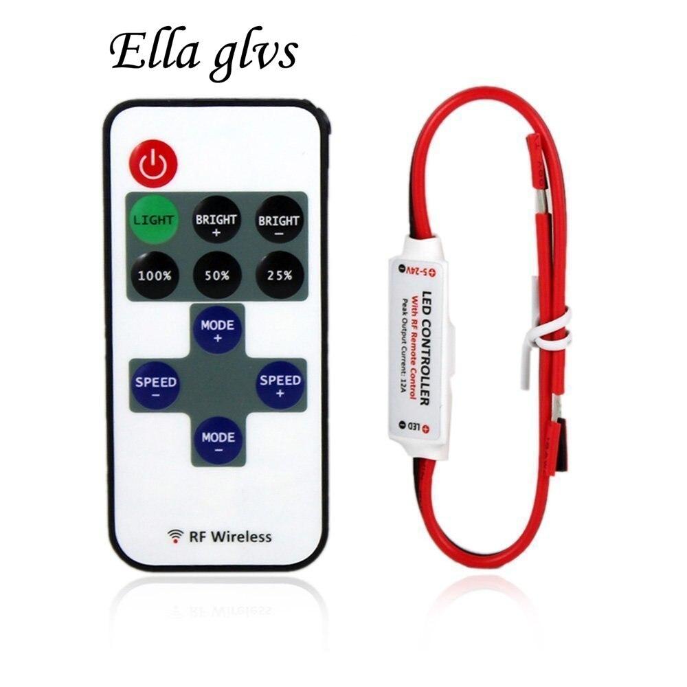 mini led controller dimmer rf wireless remote control. Black Bedroom Furniture Sets. Home Design Ideas