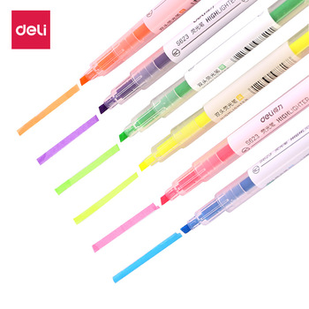 Dual Tip Highlighter Set 6 Pcs Gel Bible Highlighter Non-Bleed Assorted Color 6 Narrow Highlighter for Journaling фото