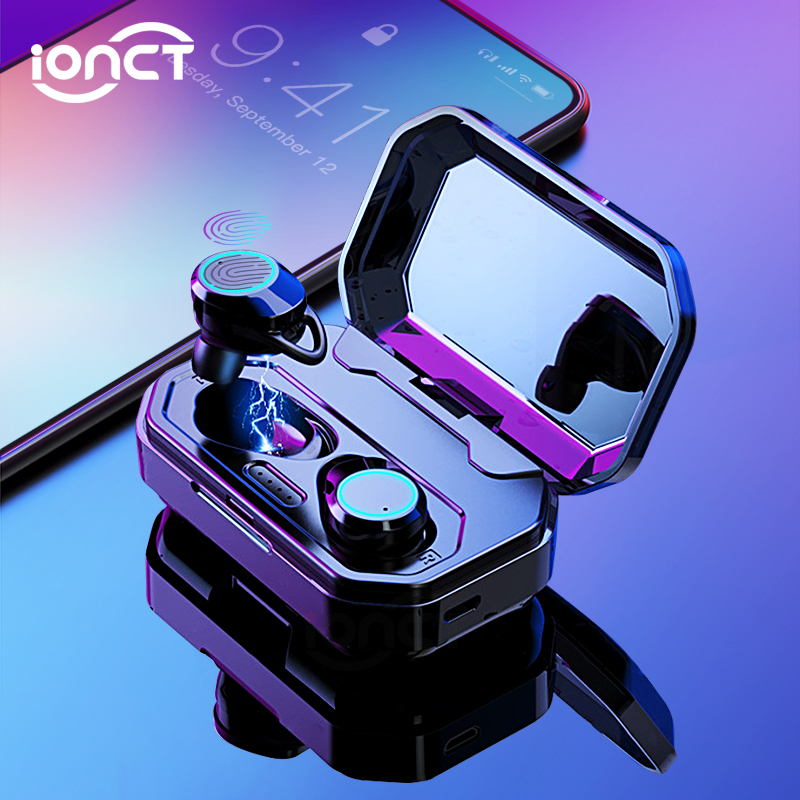 iONCT X6 TWS 5.0 Bluetooth Earphone Bass Noise Cancelling Earbuds With Charging Case Box Wireless Headphones for all smart phone