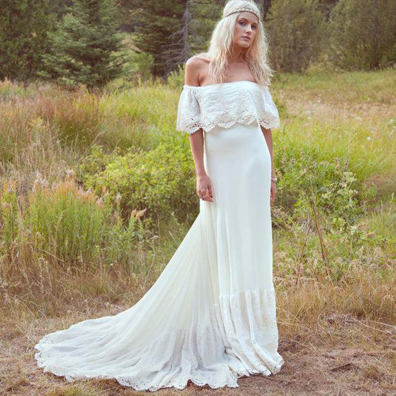 Country Girl Off the Shoulder Wedding Dress