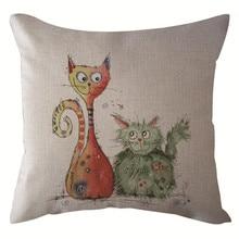 Gajjar, простой рисунок, стильный чехол для подушки, кошка, слон, сова, наволочка, домашний декоративный чехол на подушки для дивана Car16