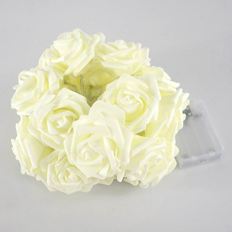 Feimefeiyou 2m 20 LED ruža cvijet LED žarulja žarulje akumulator - Rasvjeta za odmor - Foto 3