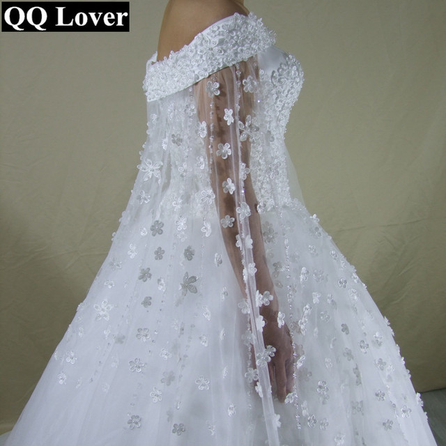 Aliexpress.com : Buy QQ Lover New Boat Neck Wedding Dress With Video ...