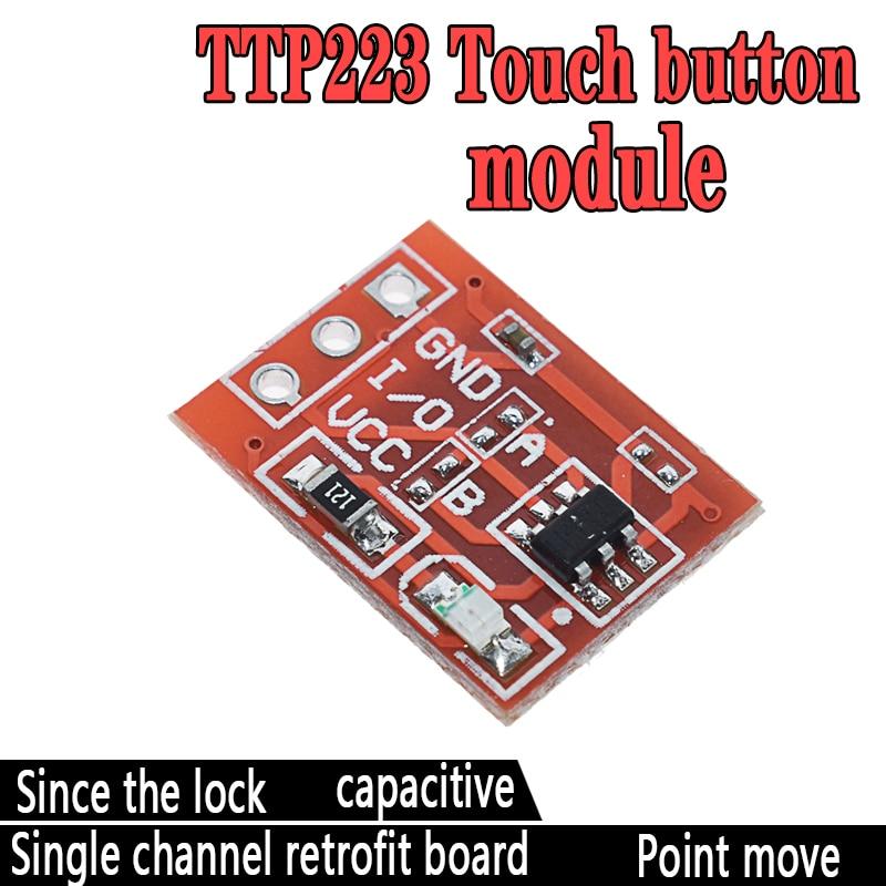 5 шт. TTP223 сенсорный ключ модуль переключателя сенсорная кнопка самоблокирующийся/без блокировки емкостные переключатели одноканальный реконструкция